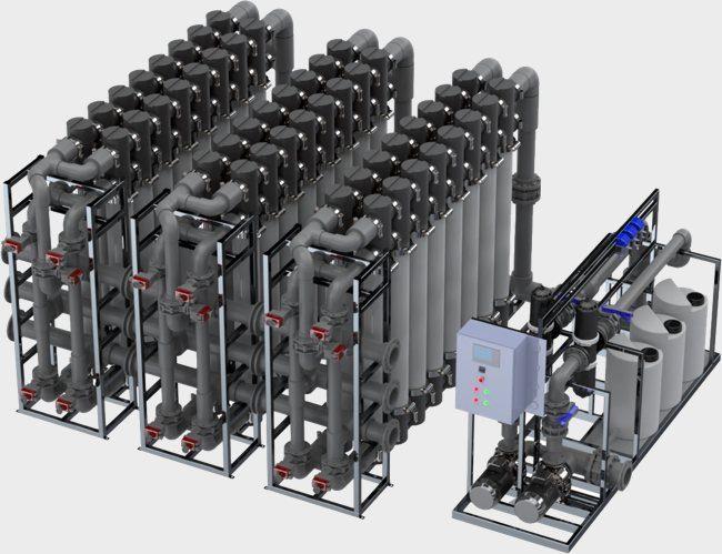 Установка промышленной очистки воды uf3-x-line